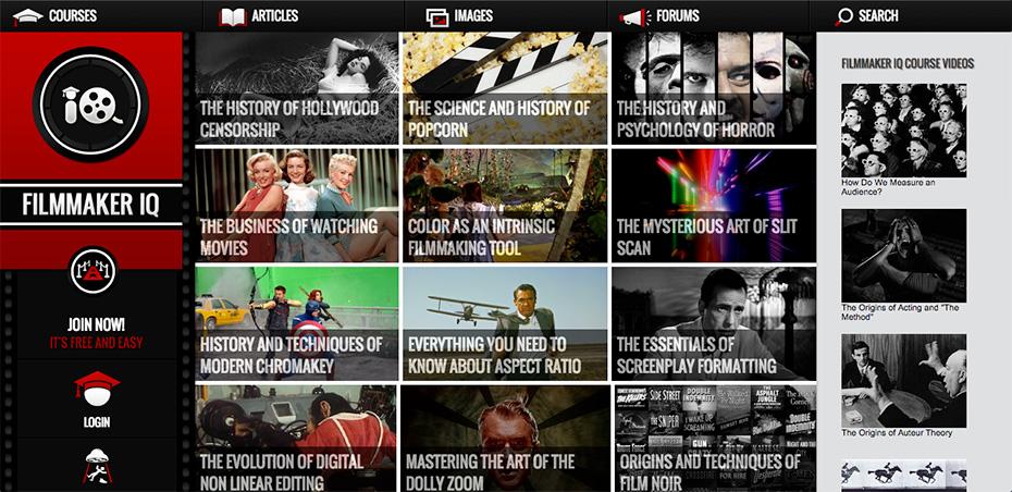 Filmmaker Site | Filmmaker IQ