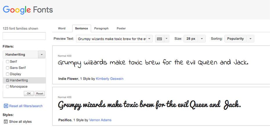 Popular Google Fonts
