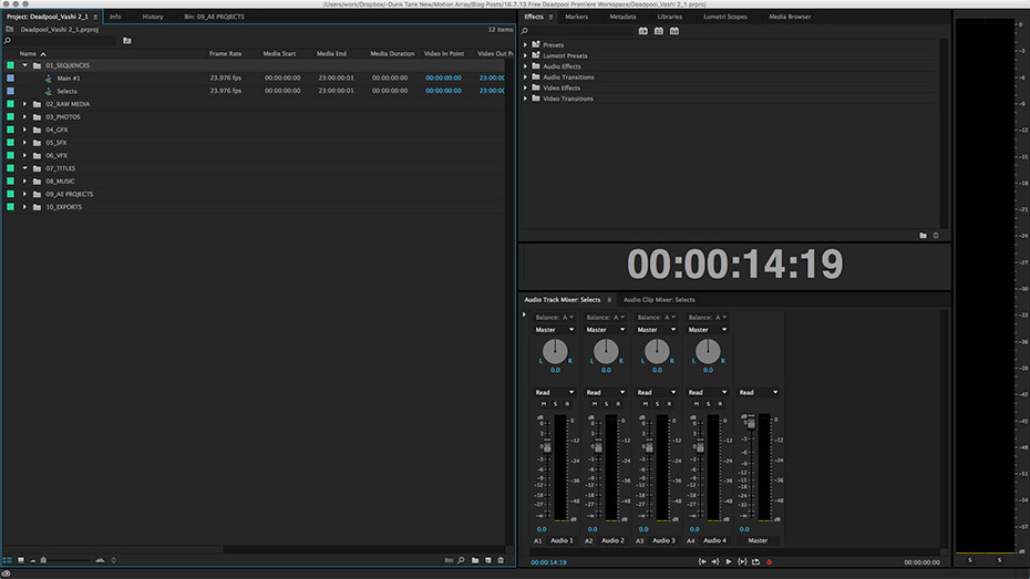 Free Vashi's Deadpool Premiere Pro Workspace   Motion Array